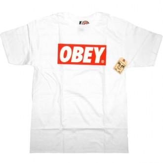 Obey 'Bar Logo' T-Shirt -White-